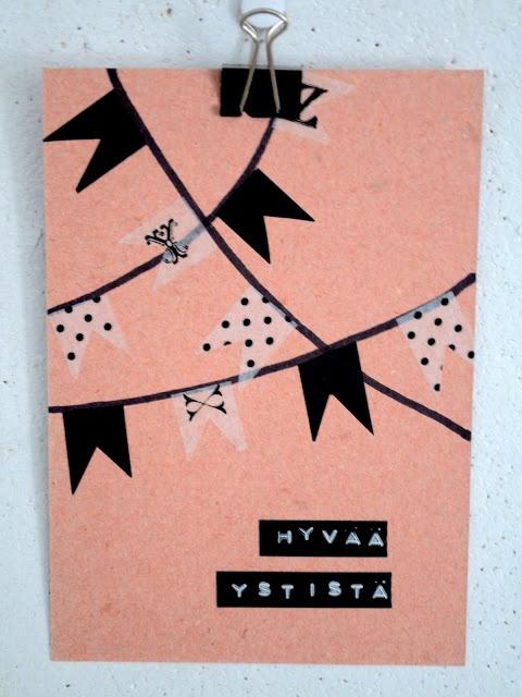 Washi tape card DIY
