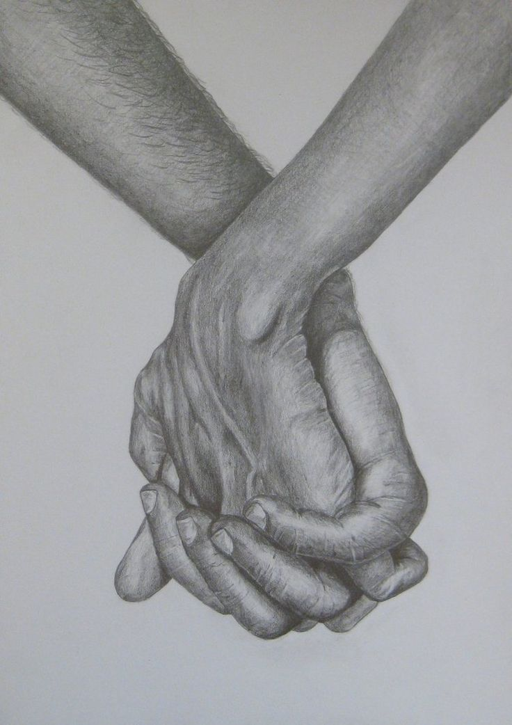 Live to Draw Holding Hands | Pencil Drawings Of People Holding Hands