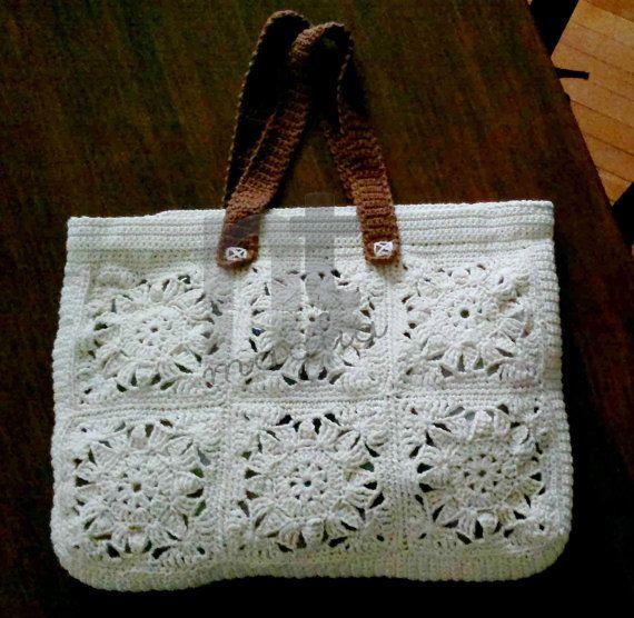 Borsona Varenna crochet tote bag pattern by NTmagliaCrochet