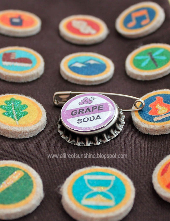 use furniture felt pads to make scout badges a la Russell in UP. Jinkies!