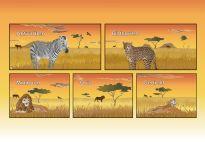 Pockets: Lion Lapbook materials for children in pre-K and kindergarten from KiGaPortal.com