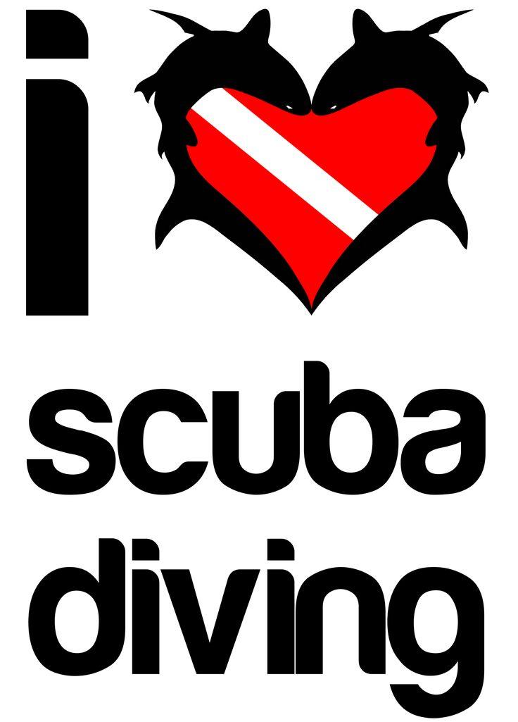 I Love Scuba Diving t-shirt design #sharks #scuba #diving http://sharktshirts.spreadshirt.com/