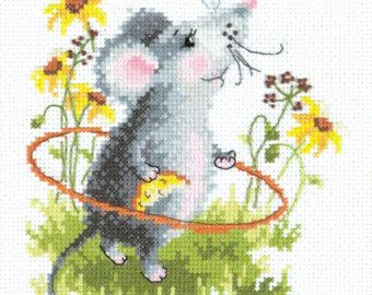 For You.. Bear /& Heart Alisa Counted Cross Stitch Kit