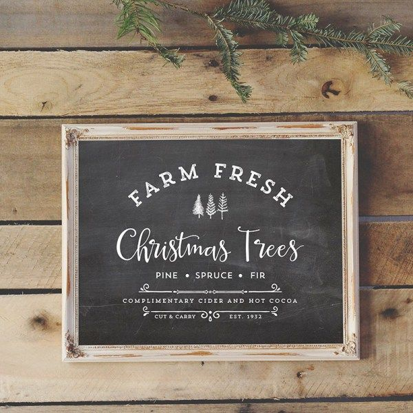 """Download and Print this vintage-inspired """"Farm Fresh Christmas Trees"""" printable, perfect for sprucing up your home this holiday season."""