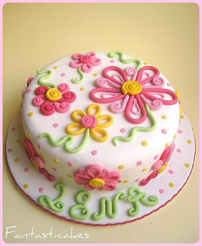 Decorate Cake With Fondant Flowers : 17 of 2017 s best Flower Birthday Cakes ideas on Pinterest ...