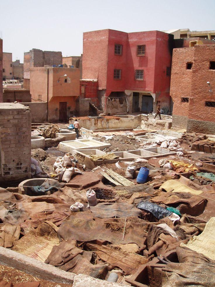 Marrakech, tanneur, ©DamienVidal www.damien-vidal.com