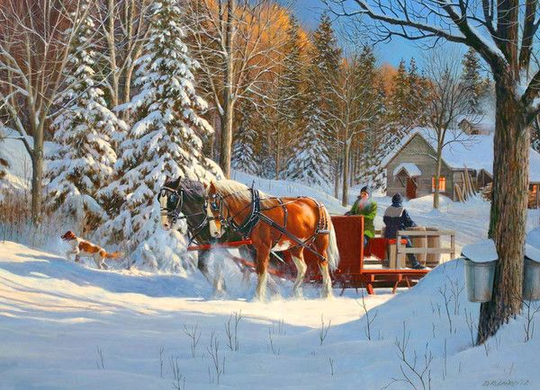 Maple Sugaring by Sleigh