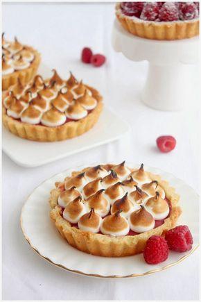 raspberry meringue tart