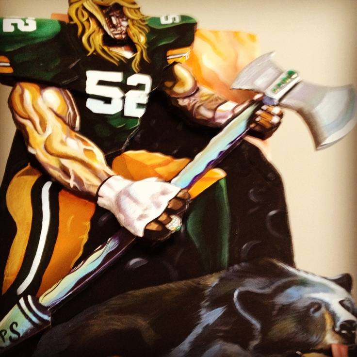 Clay Matthews slaying the #Bears #Packers #football #NFL