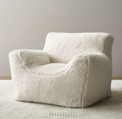 RH Babychilds Luxe Sherpa Bean Bag Chair CoverThe Coziness Of A Club Paired