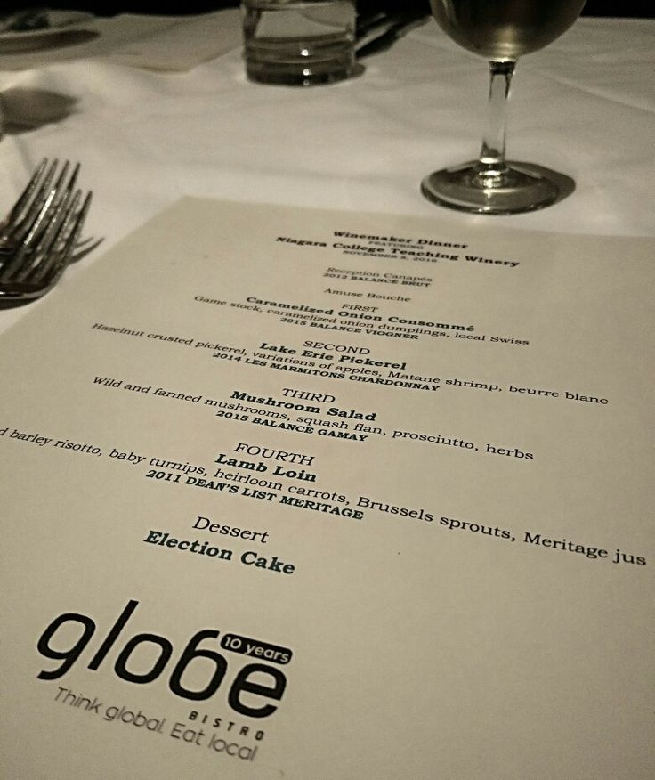 Winemaker dinner with Niagara College Winery