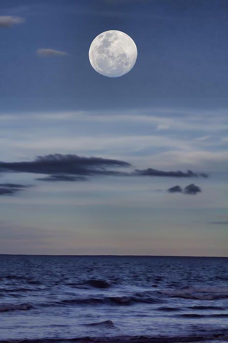 MOON OVER THE OCEAN-CASUARINA COASTAL RESERVE, DARWIN, NT, AUSTRALIA - by Douglas Barnard