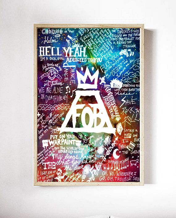 Fall Out Boy Lyric Collage Galaxy Nebula Poster Printable Wall Fall Out Boy Poster Printed With Dye Pigment Reactive Ink On Archival Matte Pap Fall Out Boy Poster Fall Out Boy Lyrics