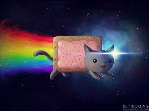 Cute characters by Ben Hickling. Digital Nyan Cat and many more!