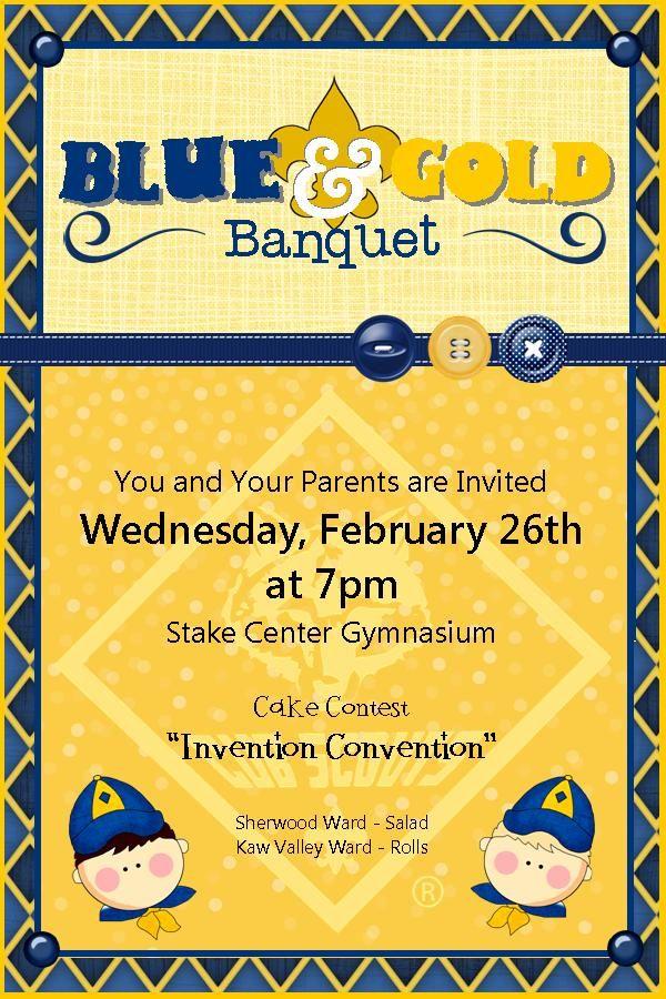 blue and gold banquet invite cub scouts pinterest cub scouts