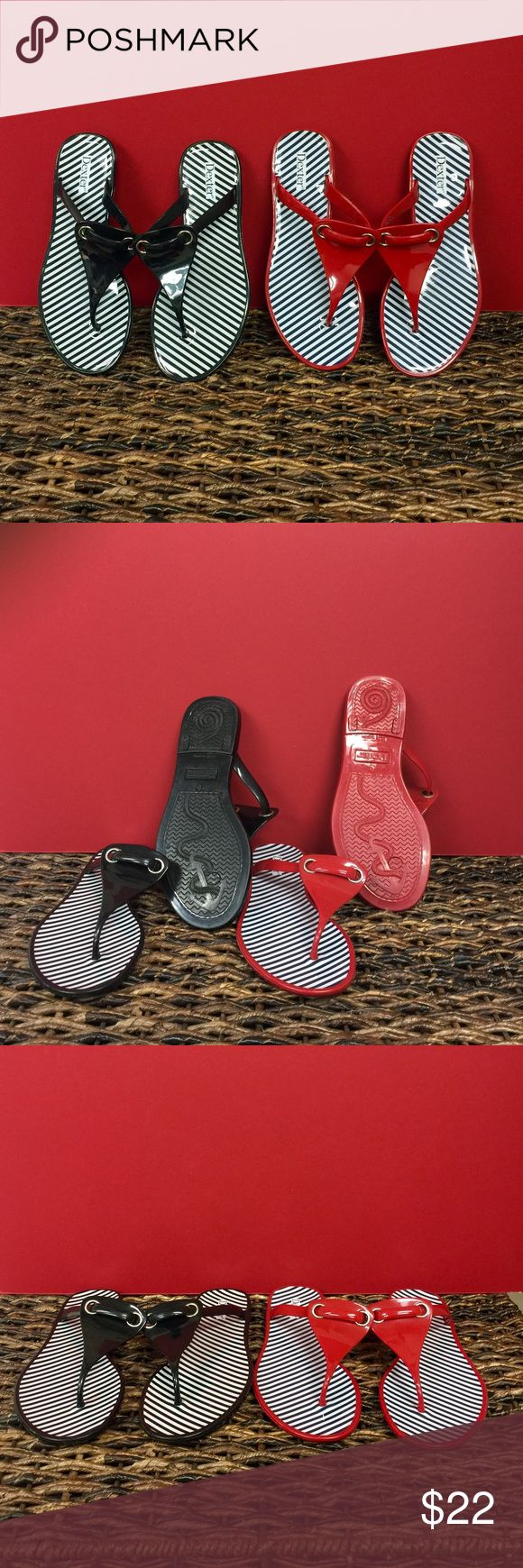 NEW 2-Pairs Dexter Nautical Sandals NEW Dexter Nautical Sandals!! Two Pairs (1) Black & (1) Red!! Perfect New Condition. Price is for 2-Pairs Together!! Will separate for $12 each Dexter Shoes Sandals