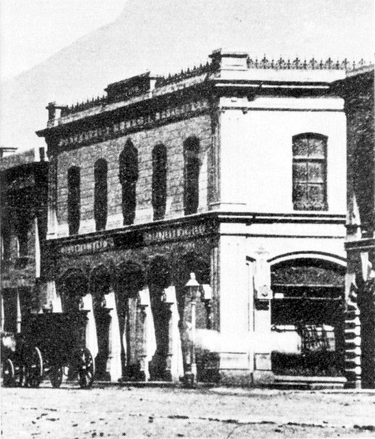 Adderley Street with Stuttaford's Building, in the early 1870s