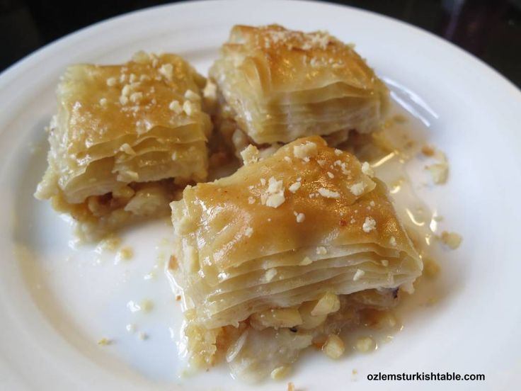 Sutlu Nuriye; lighter baklava with hazelnuts in milky syrup