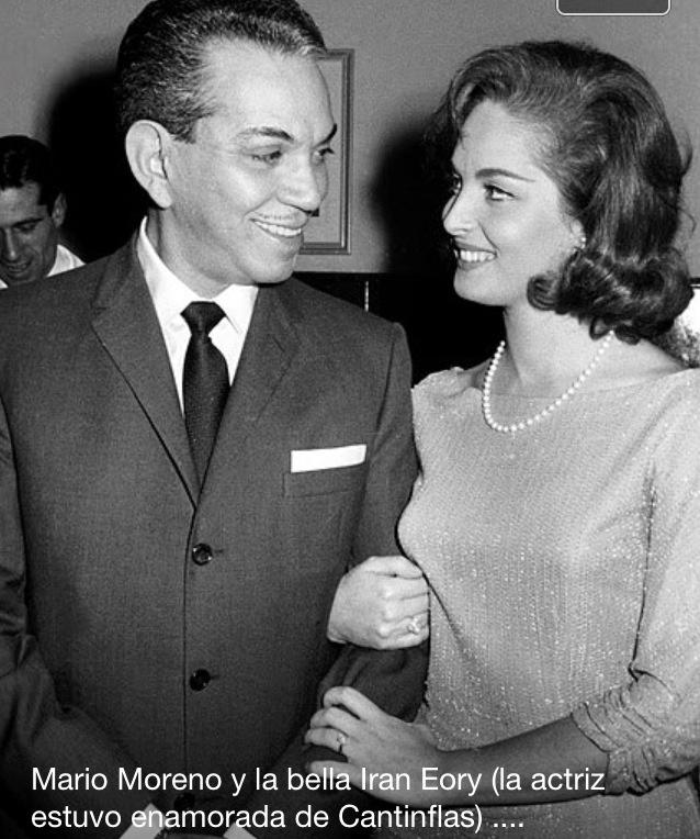 "Mexican actor Mario Moreno  ""Cantinflas"" (1911-1963)  Irán Eory   Iranian -Spanish-Mexican singer and  actress  (1937-2002)"