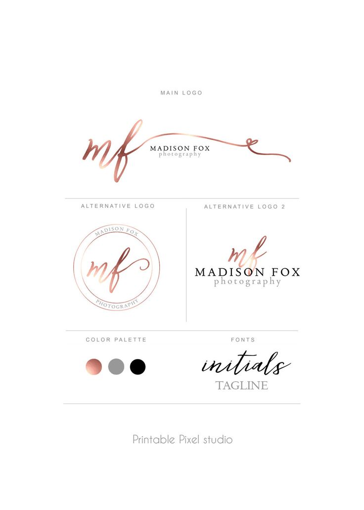 Branding package Brand identity Photography Logo Rose