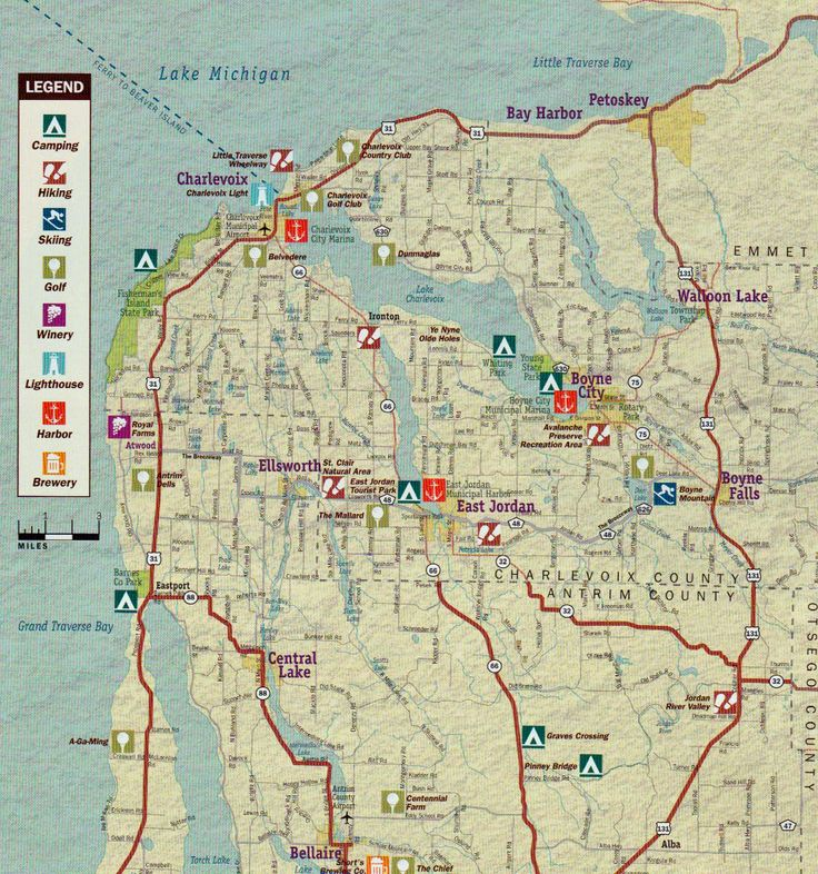 Best Walloon Lake Maps Images On Pinterest Maps Cottages And - Michigan lake maps