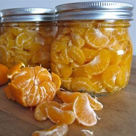 As if. But hey, I'm pinning it anyway, since I have a child who loves them. I'm imagining satsumas done this way. Arctic Garden Studio: How to Can Mandarin Oranges