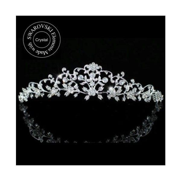 Diademe mariage cristal swarovski Arabesque - ODAZZ Mariage
