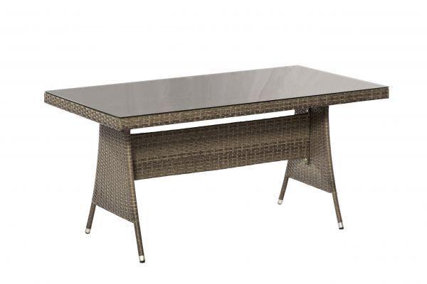 Ravello Tisch 150 X 80 Cm Durchgeflochtene Tischoberflache Mit