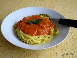 Vařím bez lepku, mléka a vajec - Zelenina - Cuketová omáčka na špagety