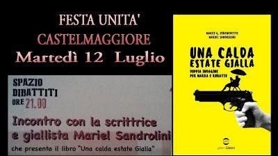 Mariel Sandrolini: mariel sandrolini martedì 12 luglio ore 21 festa d...