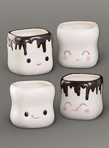 Sweet Marshmallow Mugs Set by One Hundred 80 Degrees, Home Decor, White