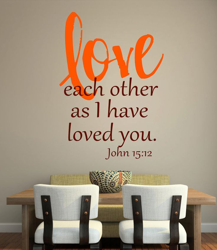 Word Art Home Decor: Scripture- Vinyl Lettering Wall Words