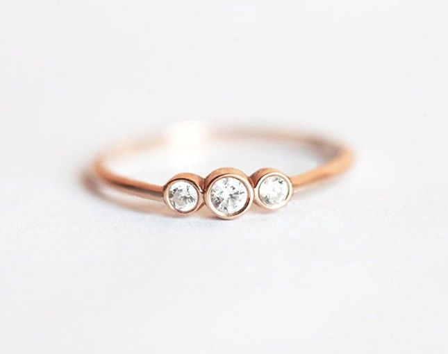 10 Minimalist Diamond Engagement Rings for the Modern Bride via Brit + Co