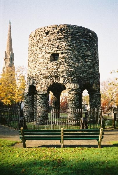 As the sun rises and sets in Touro Park, an interesting stone structure sits, catching the sun's rays as it has done for as many years as people can remember. In its position, overlooking the town of Newport, one can only imagine how long this structure has been here, or what it may have seen in its lifetime.