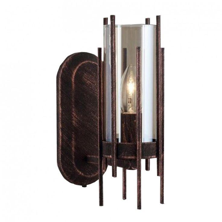 Kahverengi, Patinalı Metal Döküm Aplik 1388-70-19