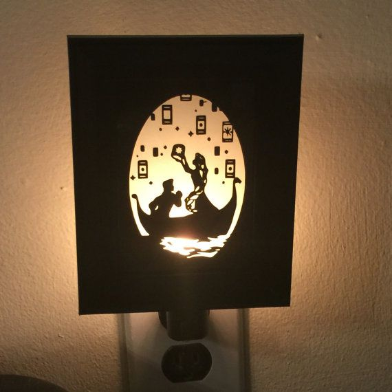 Tangled Inspired Night Light by PracPerfCrafts on Etsy