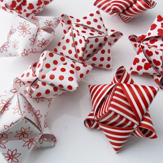 Dänische Sterntjes dänische Weihnachtsdeko von OrigamiPaperAndMore