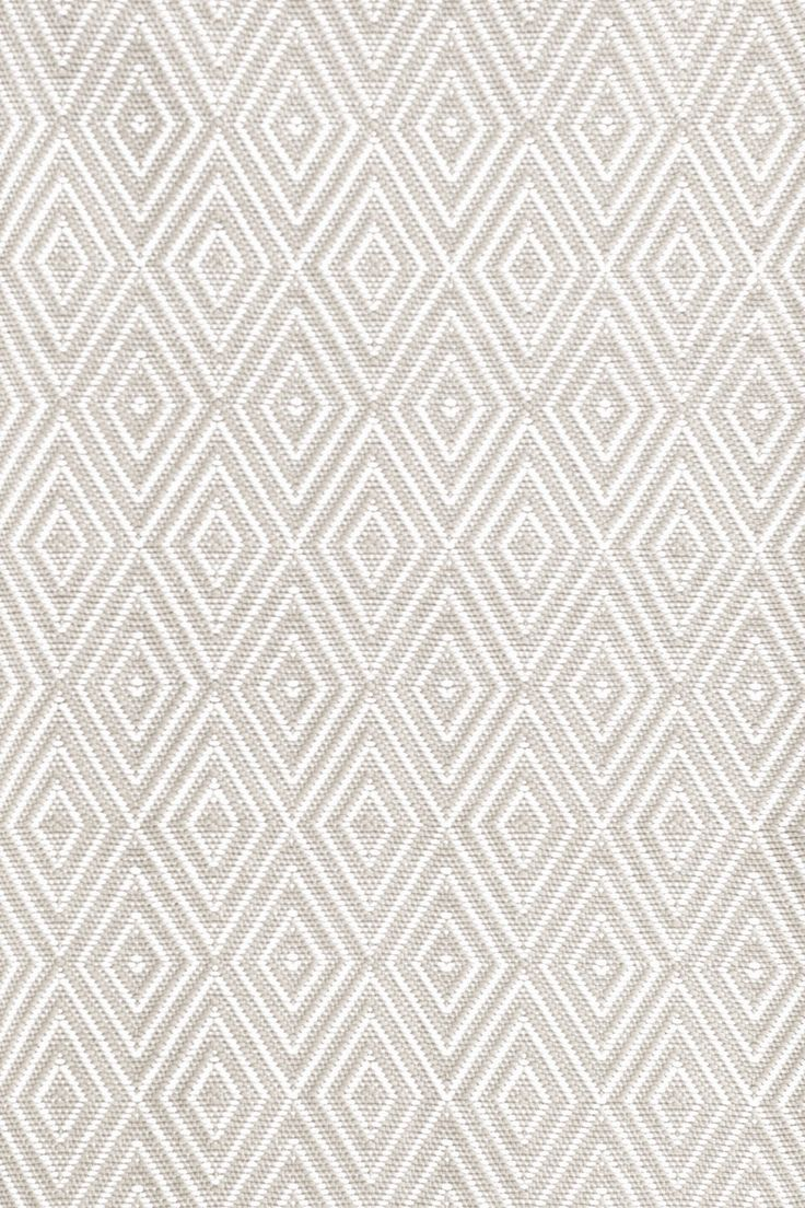 Dash and Albert Rugs Diamond Taupe & White Indoor/Outdoor Area Rug | AllModern