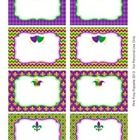 These sweet labels are great for decorating your classroom for Mardi Gras. Use them as name tags or to label bins, lockers, book baskets and folder...