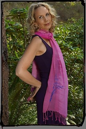 Squeezed Yoga Clothing's Plum Bamboo Dress and Silky Cotton Scarf. Vacation Essentials ! http://squeezed.ca/shop/plum-bamboo-a-line-dress-with-diva-crown