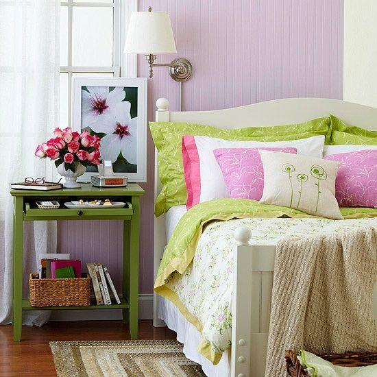 Bedroom Light Purple And Green