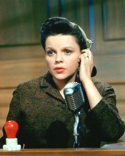 A colour still of Judy Garland as Irene Hoffman in Judgement at Nuremberg, 1961