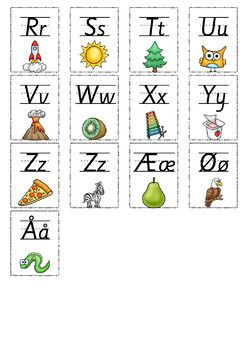 Norsk Alfabet - Plakater og kort [BM & NN]