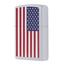 Patriotic Zippo lighter with flag of USA