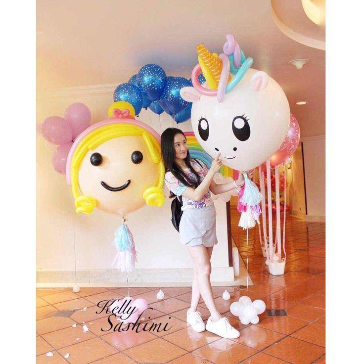 Best 25+ Unicorn Balloon Ideas On Pinterest