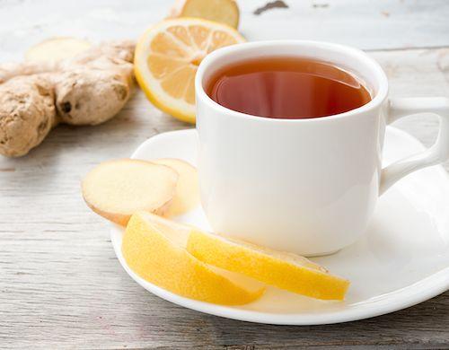 Gurkmeja och ingefära te