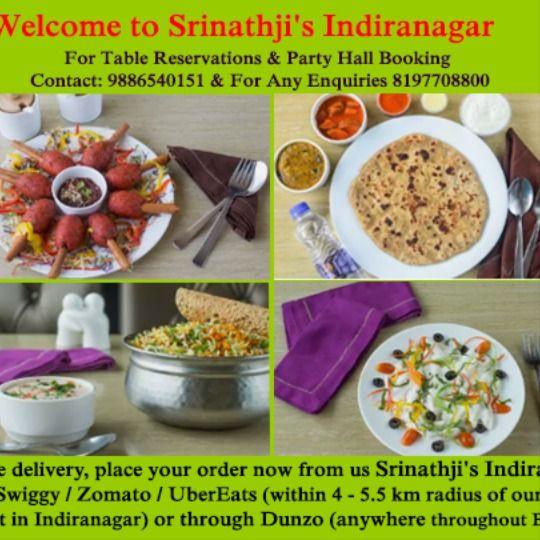 Srinathji S Indiranagar Welcomes You To Experience India S Most Unique Hygienic Veg Multi Cuisine Di Vegan Restaurants Near Me Veg Restaurant Vegan Restaurants