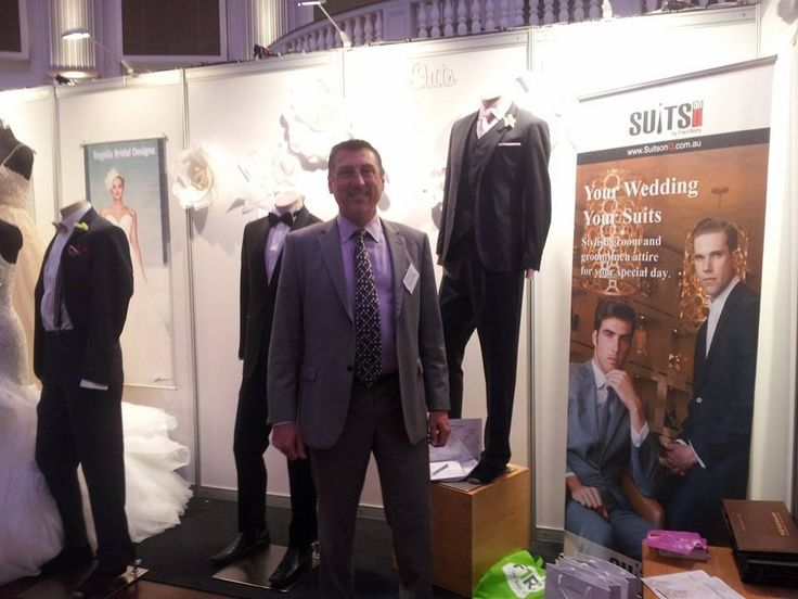 Suits on Q by Paul Barry looking handsome at the 2014 Ideal Bride Expo!   http://www.mybridalcentre.com.au/service-providers/quality-menswear-store/