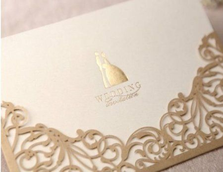 Cheap Wedding Invitations. Gorgeous #Lace / #Filigree Cut Out Invitation In  #