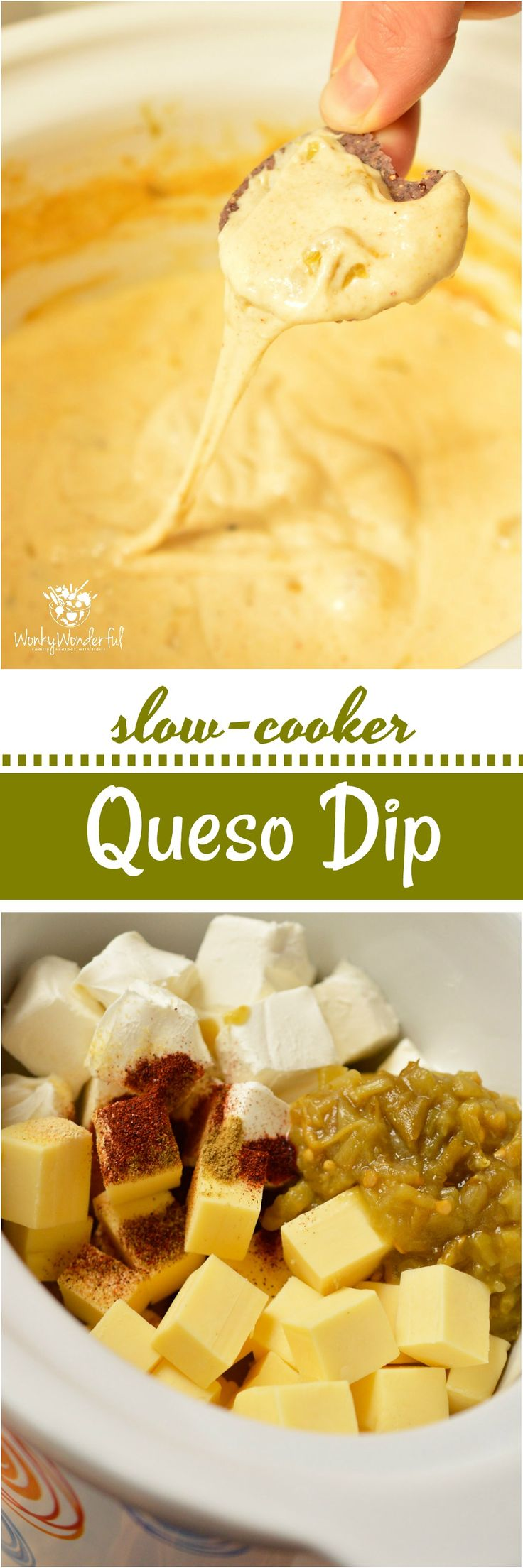 Get game day started with thisEasy White Queso Dip Recipe and a fantastic snack variety! Just a few simple ingredients in your slow cooker and this crock pot appetizer is good to go. Get out of the kitchen and enjoy the game with this no-fuss game day food!